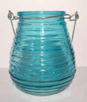 Beehive Glass Coloured Tea Light ~ Turquoise